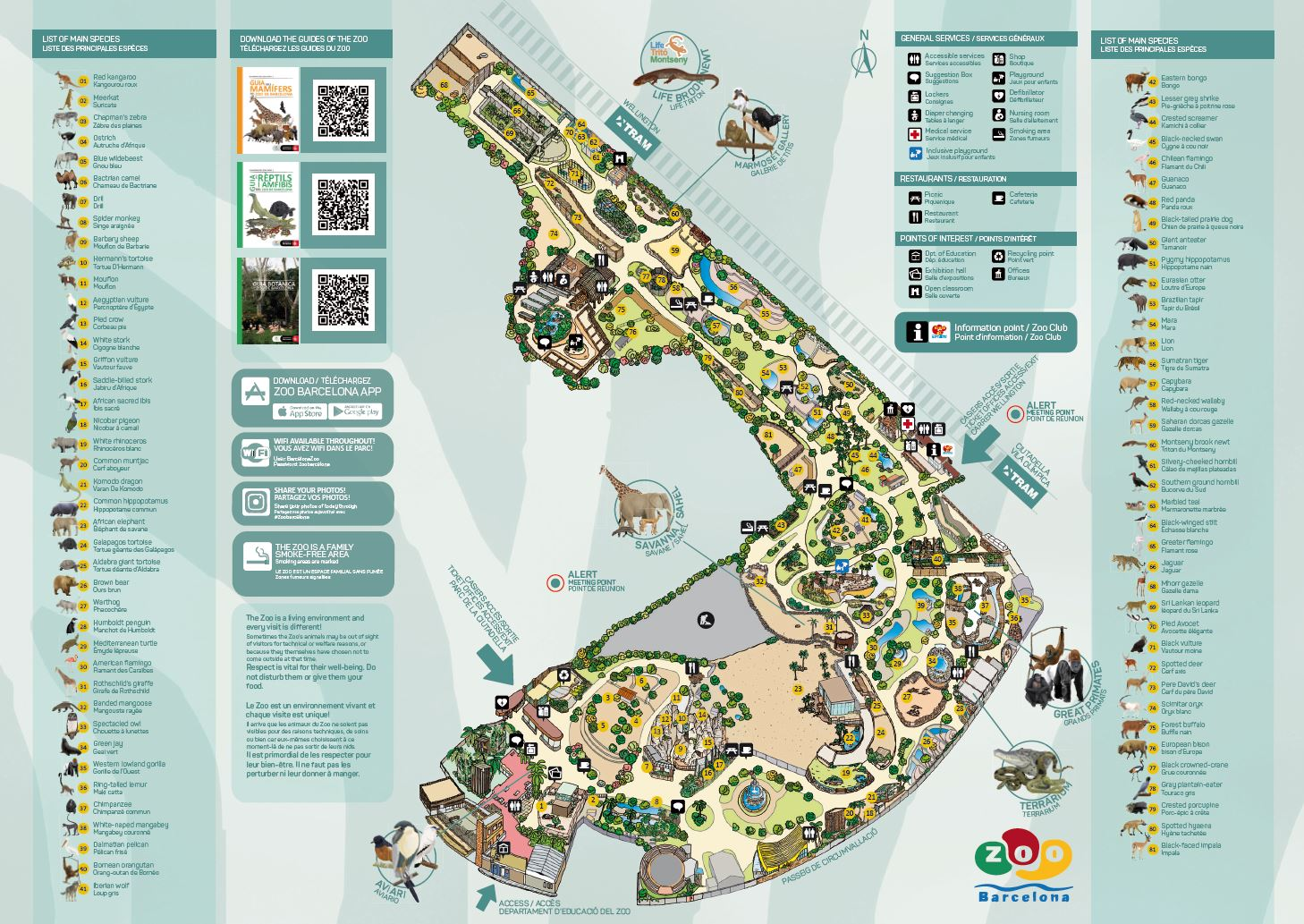 Map Zoo Barcelona